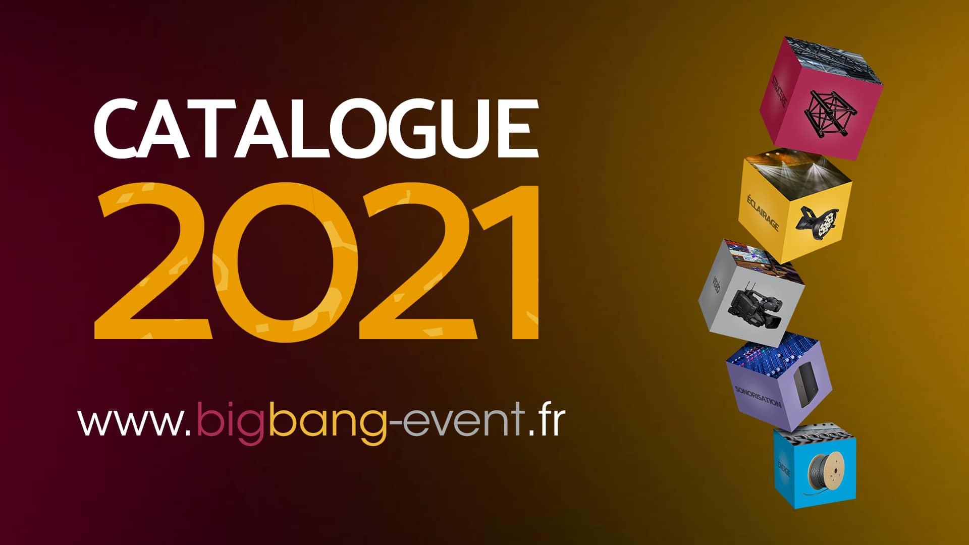 Couverture Catalogue 2021 - Big Bang Event
